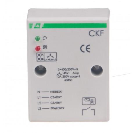 Czujnik kolejności i zaniku fazy CKF Ze stałym progiem asymetrii napięciowej zadziałania