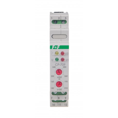 Przekaźnik napięciowy CP-709 do kontroli napięcia w sieci jednofazowej