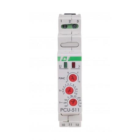 Przekaźnik czasowy PCU-511 z funkcjami opóźnionego załączania i wyłączania