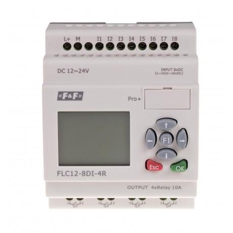 Uniwersalny sterownik programowalny FLC12-8DI-4R do sterowania elementami domowej i przemysłowej instalacji elektrycznej