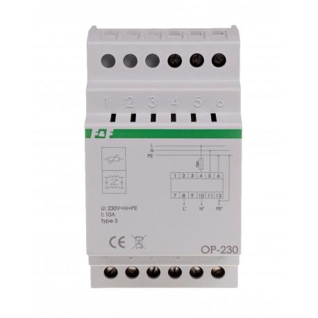 Filtr przeciwzakłóceniowy z układem przeciwnapięciowym OP-230