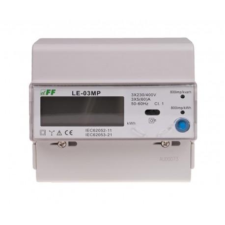 Licznik prądu LE-03MP trójfazowy ze zdalnym odczytem i rejestracją parametrów sieci