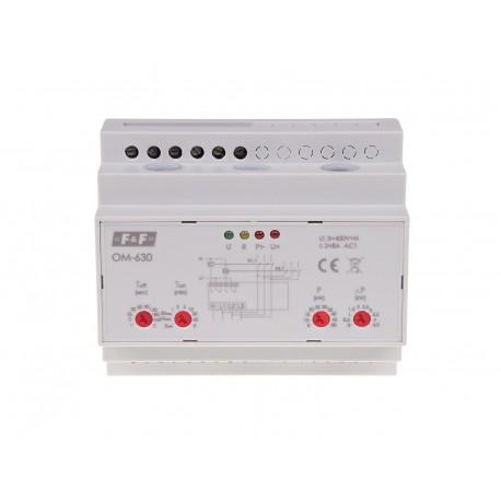 Trójfazowy ogranicznik poboru mocy OM-630 z funkcją przekaźnika napięciowego