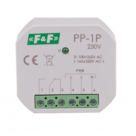 Electromagnetic relay PP-1P 230 V
