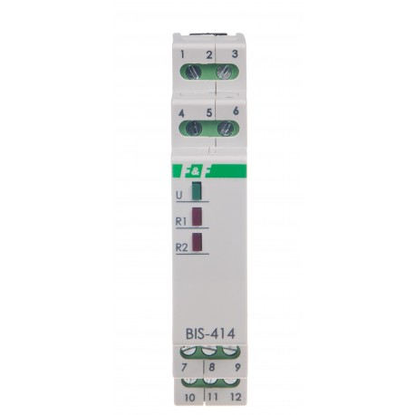 Electronic bistable impulse relay BIS-414 230 V