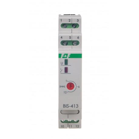 Przekaźnik bistabilny z wyłącznikiem czasowym BIS-413-LED 230 V przystosowany do żarówek LED