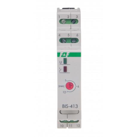 Przekaźnik bistabilny BIS-413-LED- 24V z wyłącznikiem czasowym