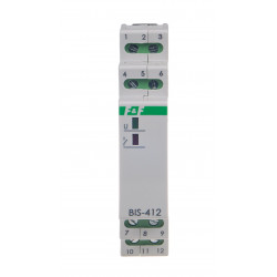 Electronic bistable impulse relay BIS-412-LED- 230 V