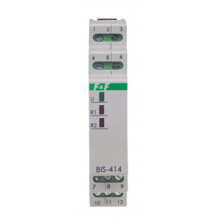 Świecznikowy przekaźnik bistabilny BIS-414-LED 230 V