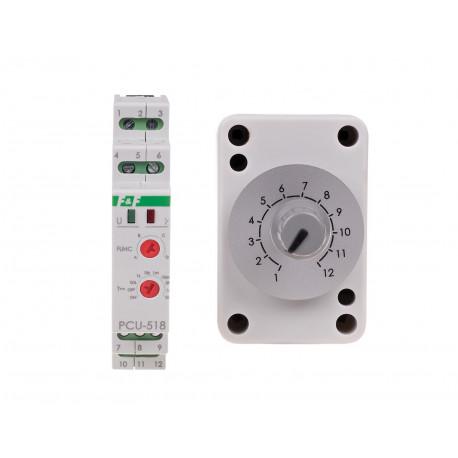 Przekaźnik czasowy PCU-518 z zewnętrznym potencjometrem nastawy czasu