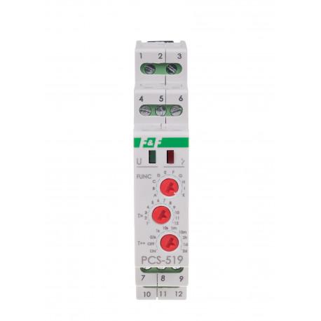 Wielofunkcyjny przekaźnik czasowy PCS-519 DUO z wejściem START i RESET