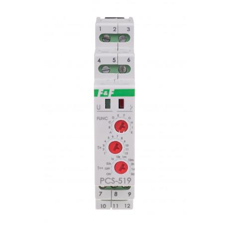 Przekaźnik czasowy PCS-519 12 V wielofunkcyjny