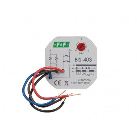 Przekaźnik bistabilny BIS-403 230 V z wyłącznikiem czasowym