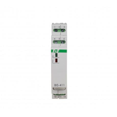 Przekaźnik bistabilny BIS-411M-LED 230V do żarówek LED z pamięcią pozycji styku
