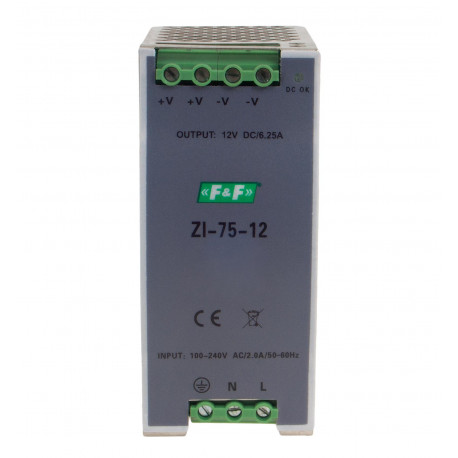 Zasilacz ZI-75-12 impulsowy