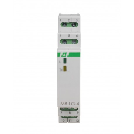 4-kanałowy licznik czasu pracy MB-LG-4 Hi
