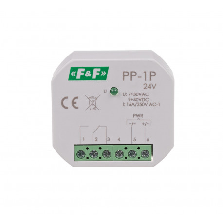 Electromagnetic relay PP-1P 24 V