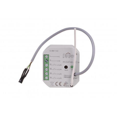 Four-channel transmitter with external sensor for temperature measurement rH-S4Tes AC