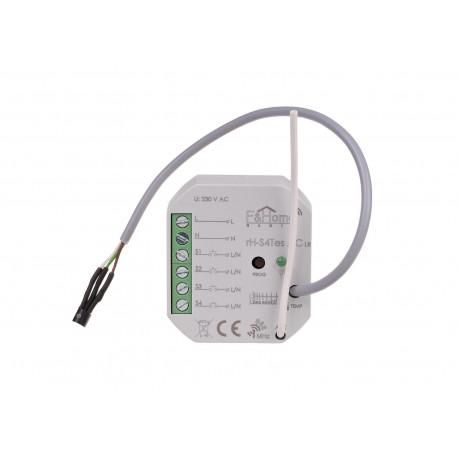 Nadajnik czterokanałowy z zewnętrznym czujnikiem do pomiaru temperatury Inteligentny Dom F&Home Radio