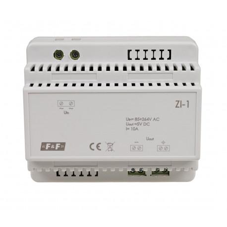 Zasilacz impulsowy ZI-1; Napięcie wyjściowe 5 V; Moc 50 W