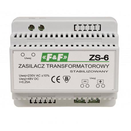 Zasilacz ZS-6 transformatorowy, stabilizowany