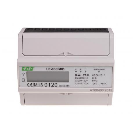 Licznik zużycia prądu LE-03d z certyfikatem MID