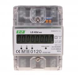 Licznik zużycia energii LE-02d certyfikat MID