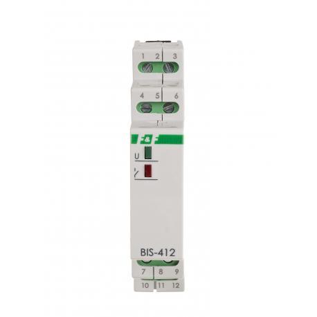 Hotelowy przekaźnik bistabilny BIS-412M LED 230 V z pamięcią pozycji styku, do LED