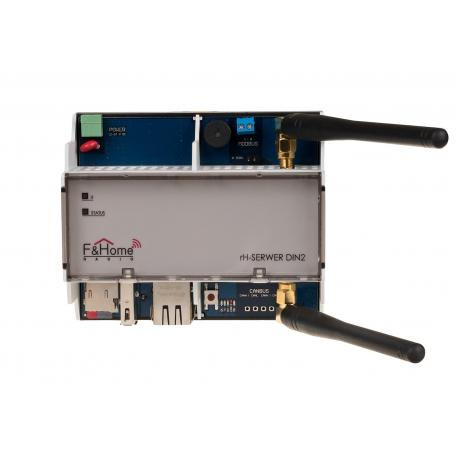 System server on a DIN rail