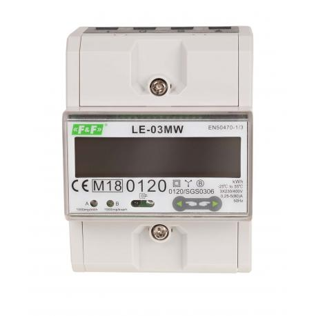 Licznik zużycia energii LE-03MW z certyfikatem MID