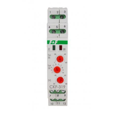Czujnik kolejności i zaniku fazy CKF-319 True RMS do zabezpieczenia silnika elektrycznego