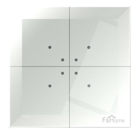 Dotykowy przycisk szklany radiowego systemu F&Wave FW-GS-W-24 24 V