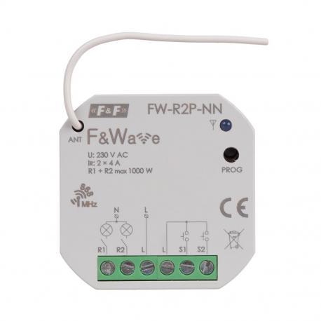 FW-R2P-NN przekaźnik do sterowania radiowego w tradycyjnych instalacjach elektrycznych
