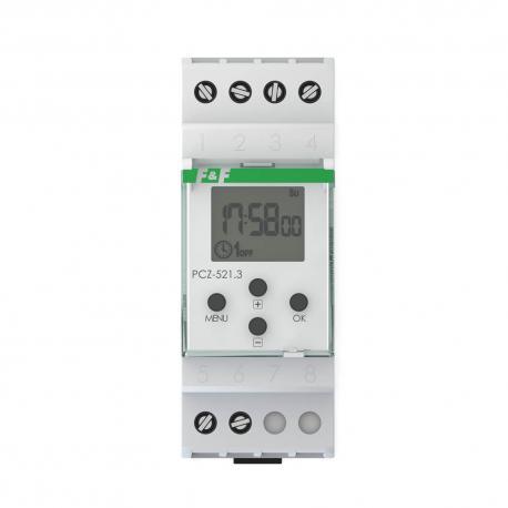 Zegar sterujący PCZ-521 tygodniowy, jednokanałowy, programowany zdalnie przez NFC