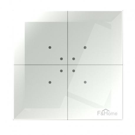 Poczwórny dotykowy przycisk szklany GS4-AC-T-W