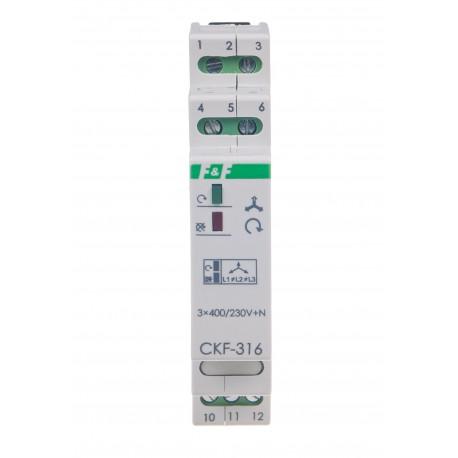 Czujnik kolejności i zaniku fazy dla bezpiecznej pracy silnika elektrycznego CKF-316 TrueRMS