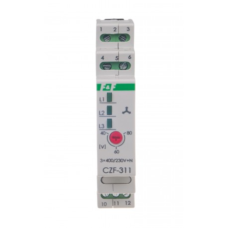 Czujnik zaniku fazy CZF-311 TrueRMS; Pomiar rzeczywistej skutecznej wartości napięcia