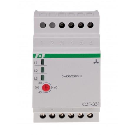 Czujnik zaniku fazy CZF-331 TrueRMS; Pomiar rzeczywistej skutecznej wartości napięcia
