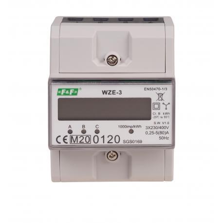 trójfazowy licznik zużycia energii WZE-3 z certyfikatem MID