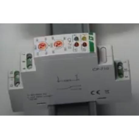 Wideoporadnik - Kontrola napięcia w sieci jednofazowej. CP-710 przekaźnik napięciowy