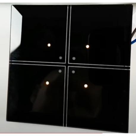 Wideoporadnik -Radiowy system sterowania F&Wave - przycisk dotykowy czterokanałowy z polerowanego szkła