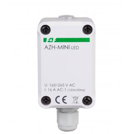 Miniaturowy automat zmierzchowy do LED AZH-MINI-LED 230 V z wbudowanym czujnikiem światła