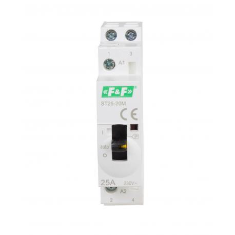 elektromagnetyczny stycznik modułowy ST25-20-M z ręcznym sterowaniem