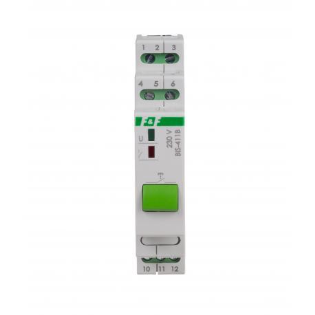 Przekaźnik bistabilny BIS-411B 230V z przyciskiem sterującym