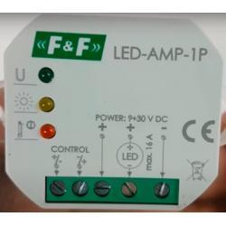 Wideoporadnik - Jak zasilać długie taśmy LED?-Wzmacniacz sygnału zasilającego LED-AMP-1P