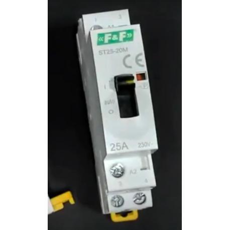 Wideoporadnik -Stycznik modułowy z przyciskiem do sterowania ręcznego ST25-20-M