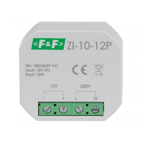 Zasilacz impulsowy ZI 10-12P do montażu w puszce podtynkowej