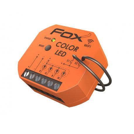 Sterownik kolorowego (RGBW) oświetlenia LED 12/24 V o obciążalności do 4 A na kolor