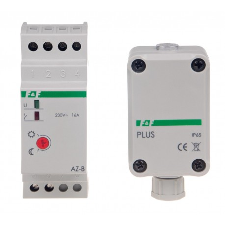 Wyłącznik zmierzchowy automatyczny AZ-B PLUS 230 V z sondą zewnętrzną