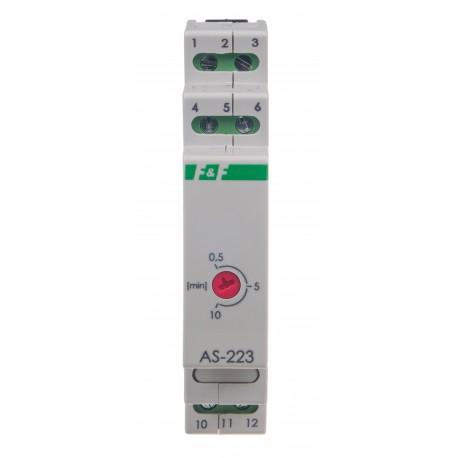 Automat schodowy do czasowego załączania oświetlenia z funkcją przeciwblokady AS-223